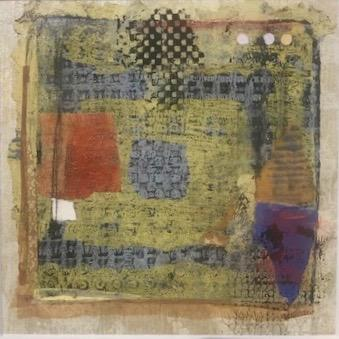blue and yellow square by michele southworth