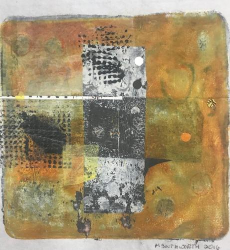 gold squares by michele southworth